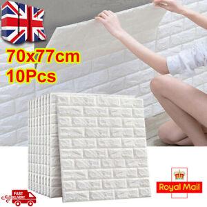20PCS 3D Tile Brick Wall Sticker Self-adhesive Wallpaper Waterproof Foam Panel