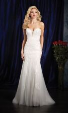 2601 ALFRED ANGELO SIGNATURE IVORY/LT GOLD SZ 14 $1395 WEDDING GOWN DRESS