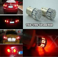 2x 50SMD RED Reverse LED Light BA15S 1156 1206 Tail Stop Turn Lamp Bulb DC 12V