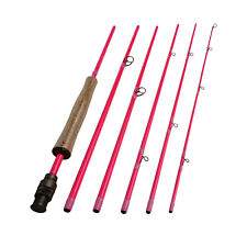 Aventik Fly Rods IM8 6 pieces Travel 8'9'' LW4/5, 9'1'' LW5/6 in Pink for Ladies