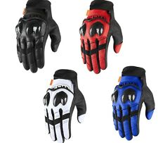 2020 Icon Contra 2 Leather/Textile Motorcycle Street Gloves - Pick Size/Color