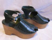 TopShop No Pattern 100% Leather Wedge Women's Heels