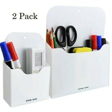 Pen Holder For Wall Whiteboard Marker Magnetic Refrigerator Eraser Tray Set Of 2