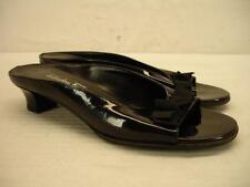 womens 6 B M Salvatore FERRAGAMO BOW Vara black patent shoes sandals pumps heels