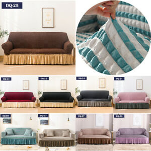 Stretch Bubble Lattice Sofa Slipcover Cover Couch Loveseat Furniture Protector