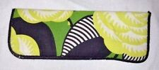VERA BRADLEY La Neon Rose Pattern EYE GLASS CASE Green Black Flowers Eyeglass