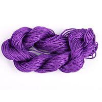1mm 27m Nylon Chinese Knot Cord Macrame Rattail Braided Jewelry Thread String