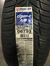 1 New 245 50 19 BFGoodrich g-Force Comp-2 A/S Tire