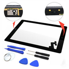 New Touch Screen Glass Digitizer Replacement + Adhesive for iPad 2 + Tools Black