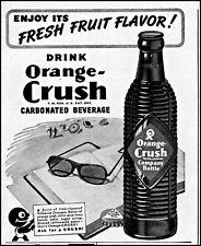 1945 Orange Crush soda beach book sunglasses bottle vintage art print Ad adL91