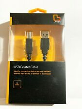 LINDEN 1.8M USB Printer Cable - IDEAL FOR PRINTERS AND SCANNERS