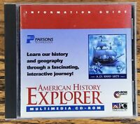 American History Explorer PC CD learn past, interactive program! A.D. 1000-1875