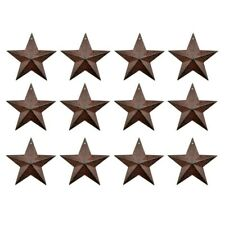 3-Inch Retro Metal Barn Star Country Crafts Home and Garden Decoration Set of 12