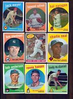 1959 Topps Baseball Cards - Vintage lot - Free Shipping