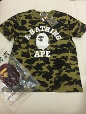 Men's Bape A Bathing Ape 1st Green Camo Shirt Rare Shirt Size Medium