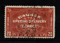 Canada SC# E5, Used, hinge remnant - S6809