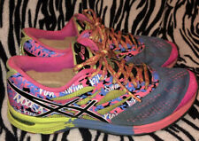 Asics Gel Noosa Tri 9 Neon Multi Color Yellow Womens Running Shoes T458N