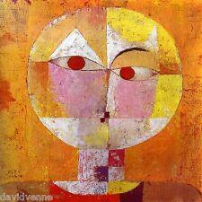 Paul Klee Abstract Portrait Senecio 12x12 on mono deluxe Needlepoint Canvas