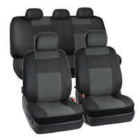 PU Leather Waterproof Car Seat Protector Cover Cushion Front + Rear Universal