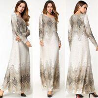 2d2039be47 Muslim Women Long Dress Abaya Kaftan Jilbab Islamic Ladies Cocktail Robe  Party