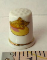 Conch Seashell Porcelain Thimble  Vintage