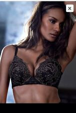 Victoria's Secret Ultra Cagey Adds 2 Cup Sizes Push Up Bombshell Padded Bra 36A