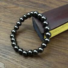 Black Magnetic Hematite Healing Mens Womens Loose Beads Bracelet