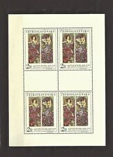 Czechoslovakia 1969 MNH ** Mi 1887 Klb Sc 1637 Paintings by A. Mucha sheet.
