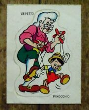 Autocollant Pinocchio Gepetto,1975,Walt Disney,vignette Fromage Bel