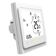 White WiFi Thermostat Temp Controller LCD Touch Screen works with Alexa/Google