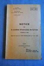 Notice sur la carabine d'instruction de 5,5 mm Modele 1945