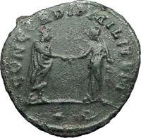 AURELIAN 270AD Authentic Ancient Roman Coin CONCORDIA HARMONY Agreement  i73351