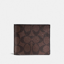 New Authentic Men Coach F74993 3-In-1 Signature Wallet With Coach Gift Box