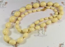 Lovely Vintage Joan Rivers Faux Buttermilk  Amber Graduated Necklace