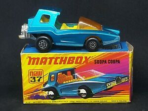 Matchbox Superfast MB37-B1: Soopa Coopa (Blue) with Type D Box