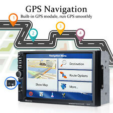 "7"" 2 DIN Autoradio Navigazione Bluetooth GPS Touch Screen Audio Stereo FM+Camera"