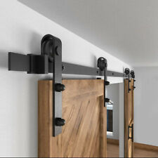 Sliding Barn Door Hardware Kit Wood Modern Hang Style Track Rail Set Pack Usa