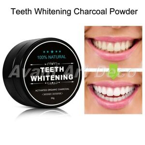 30g Natural Organic Activated Charcoal Tooth Teeth Whitening Powder Oral Care
