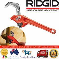 RIDGID Offset Hex Pipe Wrench 24cm Long 6.7cm Capacity.