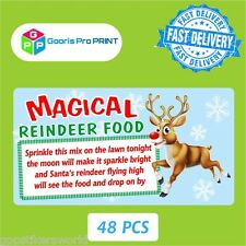 48x Christmas Reindeer Poem Magical Food Sticker Label Business Xmas Fun Tag X24