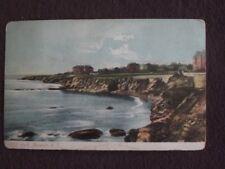 CLIFF WALK, NEWPORT, RHODE ISLAND Vintage 1907 POSTCARD