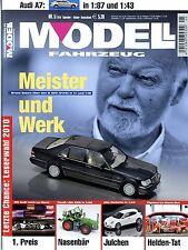 Modell Fahrzeug 2010 5/10 Magazin Audi A7 Mercedes LS 315 Focus RS 500 Mini