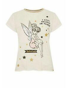 Primark Ladies Tinkerbell Nightwear Tshirt Small Size