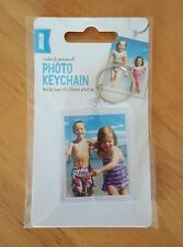 PASSPORT PHOTO PICTURE BLANK KEY RING KEYRING KEYCHAIN Holds tow 45x35 mm photos