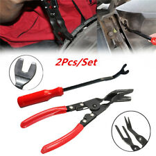 2Pcs Car Door Card Panel Trim Clip Removal Pliers Uphostery Remove Pry Bar Tool