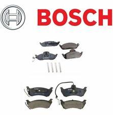 For Mercedes ML320 ML350 ML430 Bosch Front+Rear Disc Brake Pad Set w/ Sensor Kit