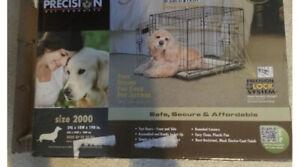 "Precision Pet Pro Value by Great Crate - 2 Door Crate - Black Model 2000 (24""L"