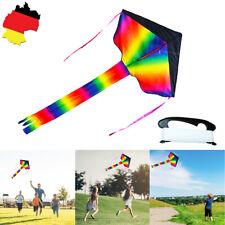 2m Lenkdrachen Regenbogen Drachen Lenkmatte Kite Powerkite Flugdrachen