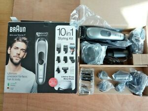 Braun All-In -One Trimmer 7 10 in1 Styling Kit Model No MGK7221