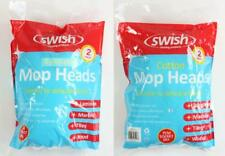 Set of 4 Swish Replacement Mop Heads Cotton and Synthetic 7cm diameter socket